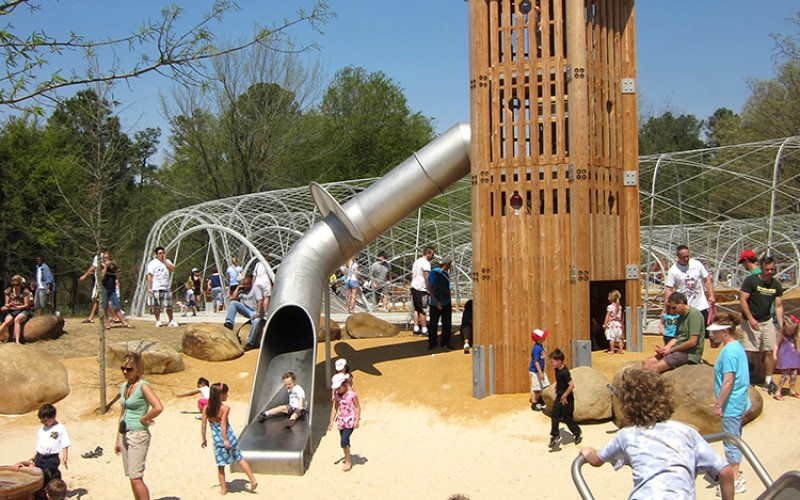The Woodland Discovery Playground At Shelby Farms Sites